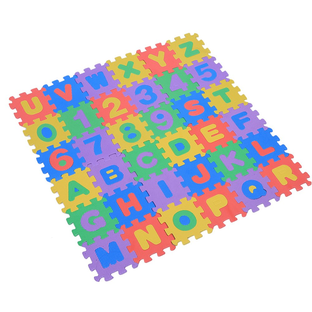 15*15cm 36stk souple EVA Tapis Mousse Enfant Jeu kriechende Coussin joue Tapis verriegelnde Puzzle Jeu de s/écurit/é Couverture Tapis Yoga eignung