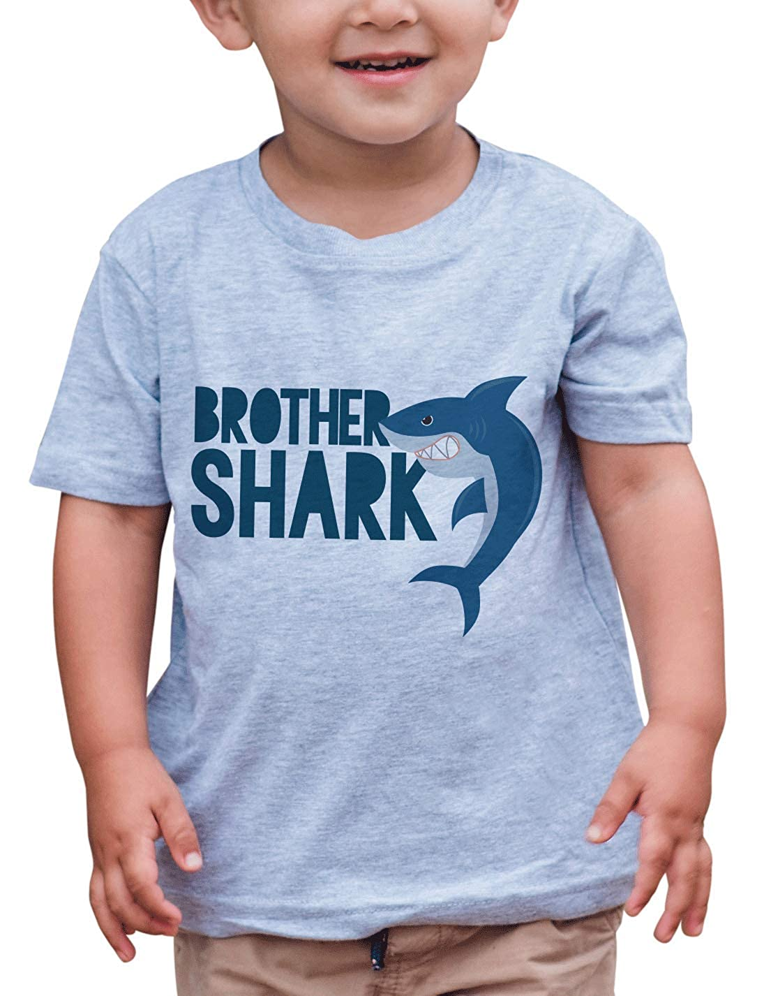 7 ate 9 Apparel Boys Brother Shark Grey T-Shirt