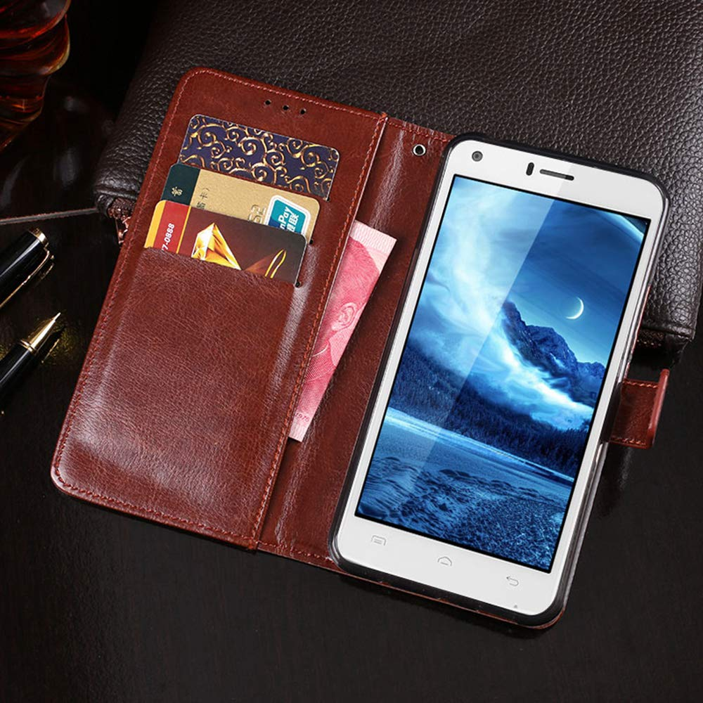Amazon.com: Doogee X5 Max Case, PU Leather Stand Wallet Flip ...
