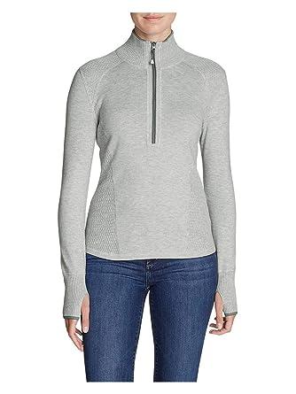 11d8f4255cbb8 Eddie Bauer Women s Engage 1 4-Zip Sweater at Amazon Women s Clothing store