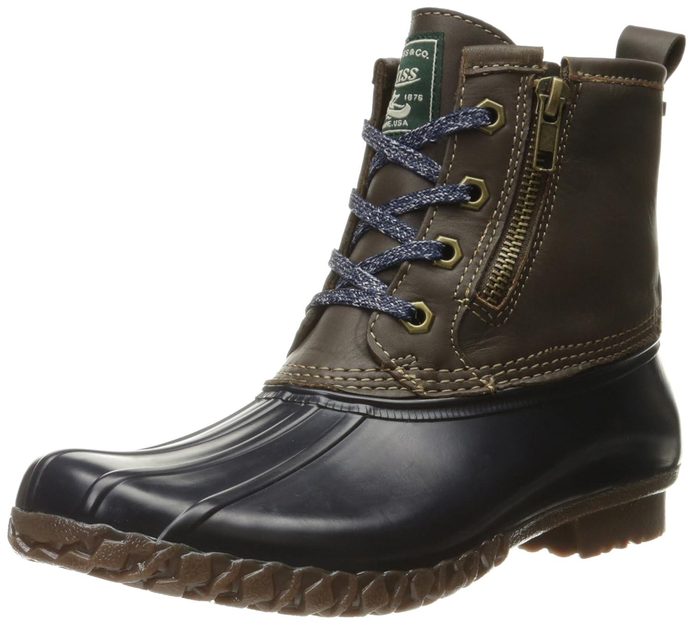 G.H. Bass & Co. Women's Danielle Rain Boot B01D0RQC0Q 7 B(M) US|Chocolate/Navy