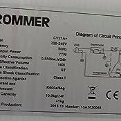 ROMMER CV 21 A+ Congelador Vertical, 40 dB, 201 kWh, Blanco ...