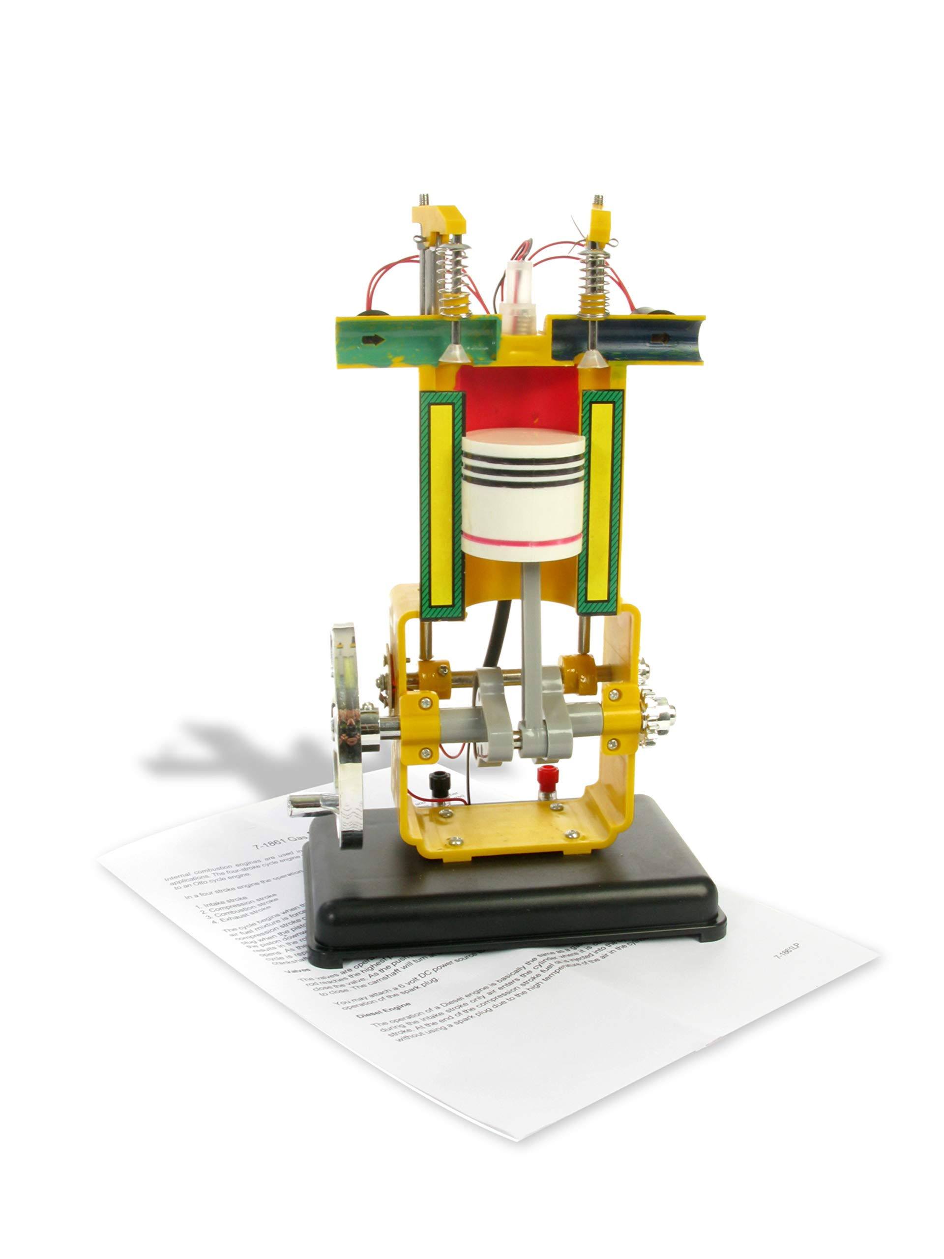 American Educational Plastic Gasoline Engine Model, 13'' Length x 8'' Width