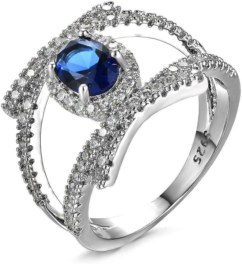 Amazon Com 888 Easy Shop Vintage 925 Sliver Blue Sapphire Cross