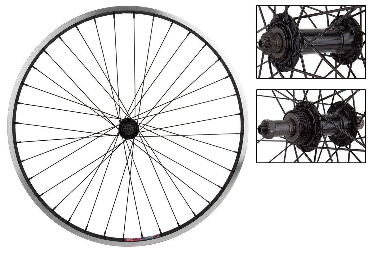 WheelMaster Bicycle Wheel Set, 26x1.5 ALY BK MSW 36 ALY FW 5/6/7sp QR BK 135mm 14gBK by WheelMaster B00B1357J4