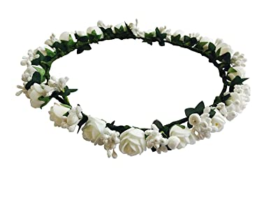 Buy new arihant traders white flower tiaracrown for girls women new arihant traders white flower tiaracrown for girls women mightylinksfo