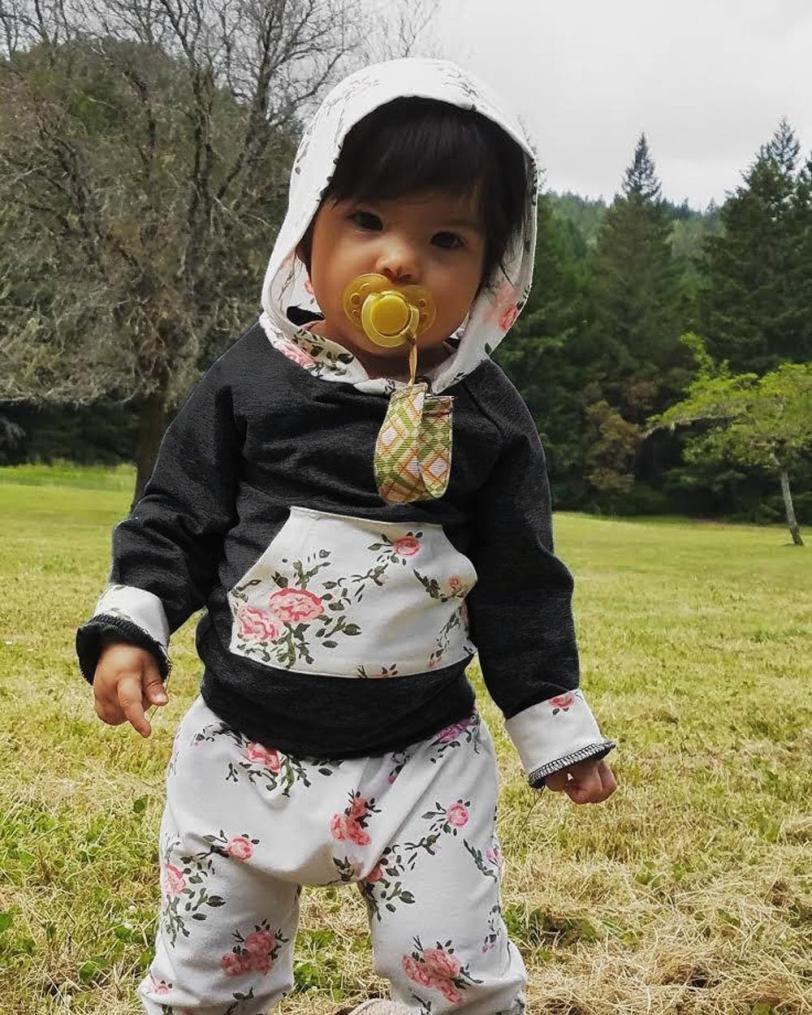 Hosen Set Outfits Grau, 0-6M//70CM Babykleidung,Honestyi 2er Kleinkind Baby Boy M/ädchen Kleidung Set Floral Hoodie Tops