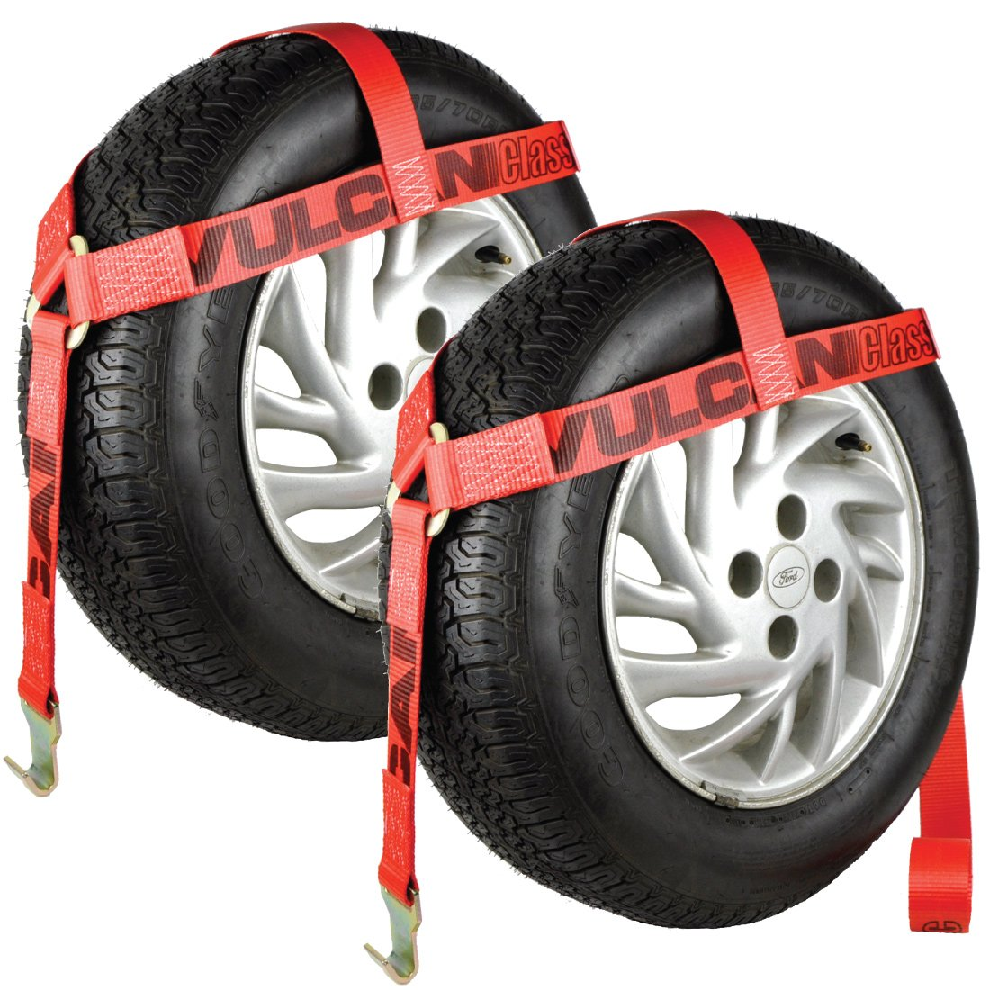Vulcan Car Dolly Tire Harness Red - 2 pack