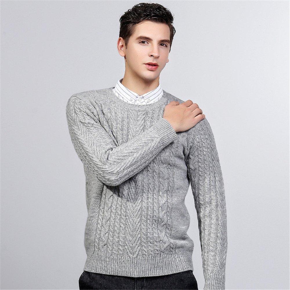 Jdfosvm Winter - Pullover, modische Stehkragen, Hals - Pullover, Junge Thread - Pulli,Grau,L