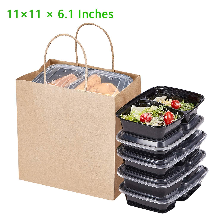 """500 /& 1000 Brown Paper Bags 13/"""" X 14/"""" Packs 100 Food Lunch Takeaway Kraft Gift"""