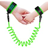 Brillante Anti-Lost Wrist Link Child Safety Wristband Harness Strap Rope Leash for Toddlers, Babies, Kids, 1.5M (Green)