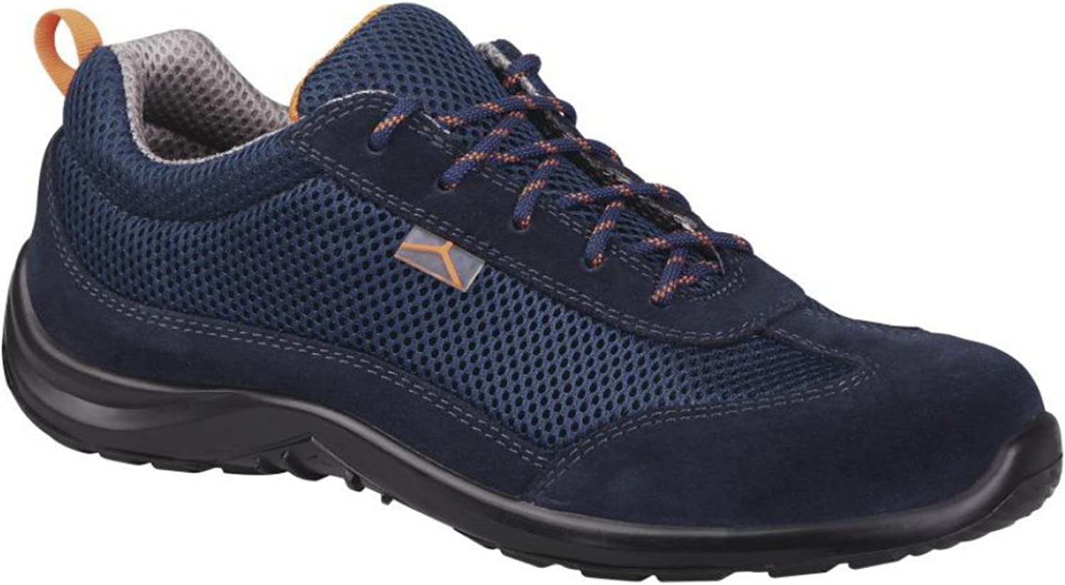 Delta Plus Como S1P SRC Mens Blue Suede Mesh Steel Toe Cap Safety Trainers Shoes