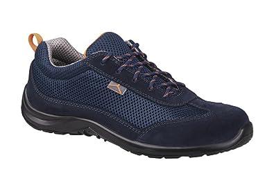 a3beb499154 Delta Plus Como S1P SRC Mens Blue Suede Mesh Steel Toe Cap Safety Trainers  Shoes