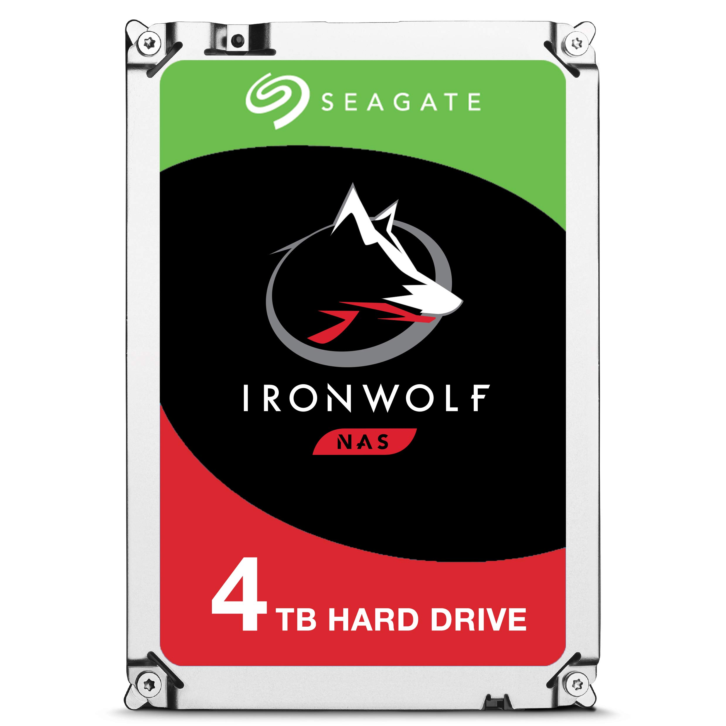 Seagate IronWolf 4TB NAS Internal Hard Drive HDD - 3.5 Inch SATA 6Gb/s 5900 RPM 64MB Cache for RAID Network Attached Storage (ST4000VN008)