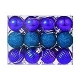 24Pcs Christmas Ball Ornaments,Gallity Christmas
