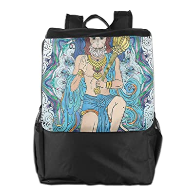 Newfood Ss Traditional Religious Figure With Ornamental Background Cultural Outdoor Travel Backpack Bag For Men And Women