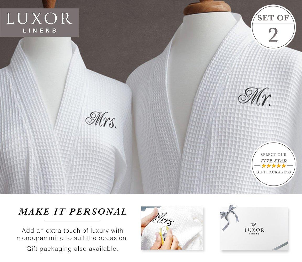 f3b2c9f6f7 Luxor Linens Waffle Weave Spa Bathrobe - Ciragan Collection - Luxurious