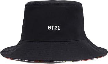 ba95f1bb4b5 BT21 Black Reversible Bucket Hat for Men and Women