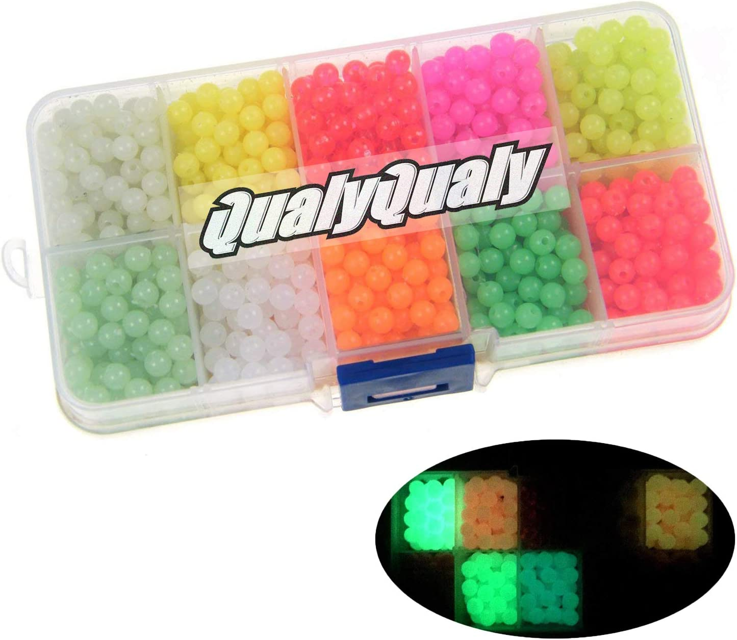 1000X Luminous fishing beads lure glow beads fishing fishing beads kit HI