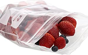 "Royal Double Zipper Quart Bags, 7"" x 8"", Package of 500"