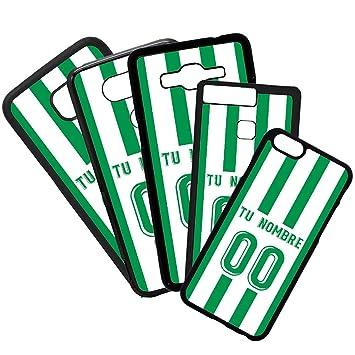 Funda de Movil Carcasa de Moviles Fundas Carcasas de TPU Compatible con el movil iPhone 7 Modelo Camiseta de Fútbol Real Betis Balompié con El Nombre y ...