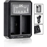 JJC LP-E6 LP-E6N Battery Charger USB Dual Slots for Canon EOS R5 R6 90D 80D 70D 60D 60Da 5DM4 5DM3 5DM2 5DS 5DS R 7DM2…