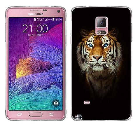 Funda Galaxy Note 4, Fubaoda [testa di tigre] Carcasa Claro Panel Posterior de Bordes Amortiguadores de TPU Blando Funda Carcasa para Galaxy Note 4 ...