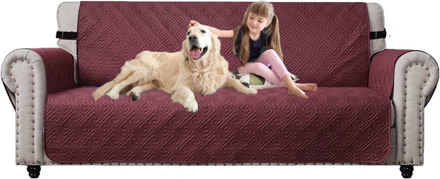 KARLSCHMIT Waterproof Sofa Cover, Non-Slip Furniture Protectors for Couch Cover, Couch Covers for 3 Cushion Couch, Couch Covers for Dogs, Couch Protector