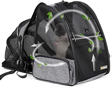 Texsens Cat Backpack Carrier, Super Breathable Carrier Backpack, Airline-Approved Bubble Cats and Puppies Backpacks, Designed for Hiking, Travel& Walking