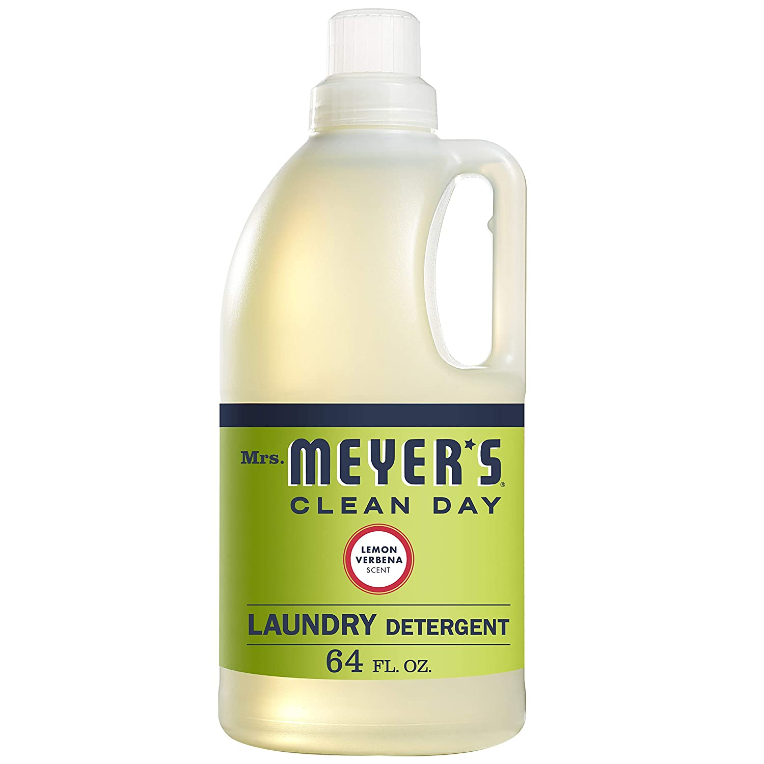 Mrs. Meyer's Clean Day Liquid Laundry Detergent, Cruelty Free and Biodegradable Formula, Lemon Verbena Scent, 64 oz