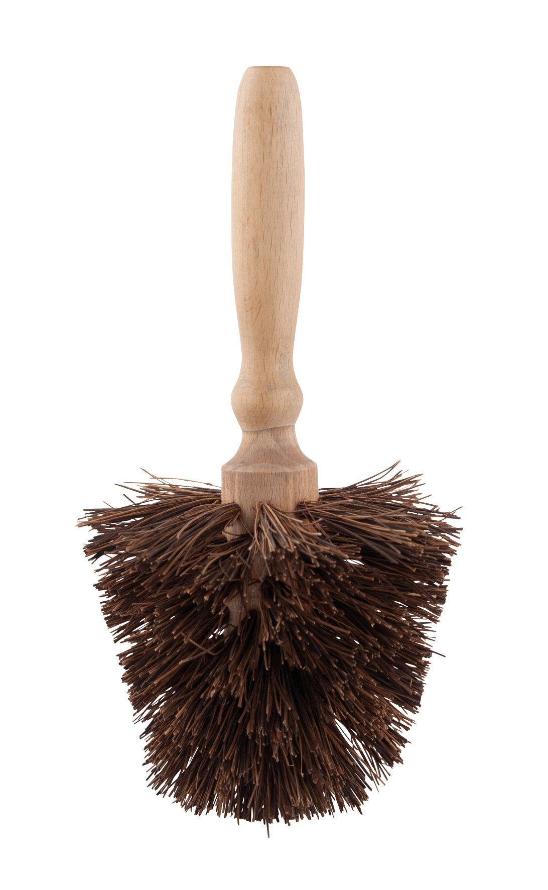 Redecker Palmyra Fiber Flowerpot Brush with Oiled Beechwood Handle, 9-7/8-Inches