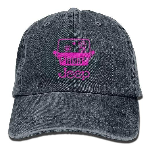 fc858ac5f26be lsrIYzy Dog Pink Denim Hat Adjustable Unisex Tactical Baseball Hats at  Amazon Men s Clothing store