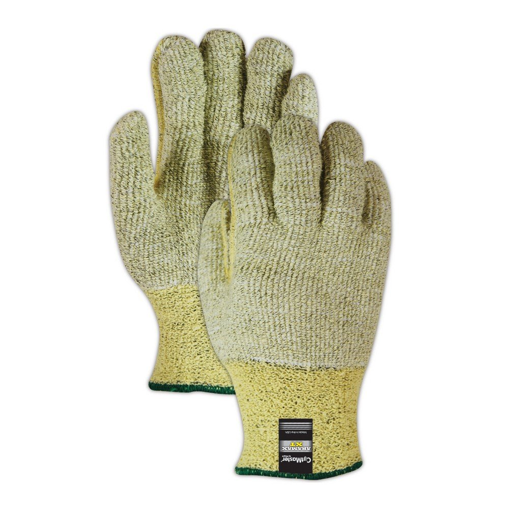 Magid Glove & Safety AX450-6 Cut Master Aramax XT AX450 Heavyweight Loops Out Terrycloth Seamless Machine Knit Gloves, Size 6, Green (Pack of 12)