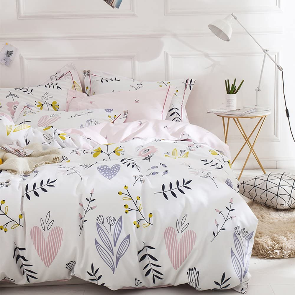 Best Bedding Gifts OTOB Fruit Pineapple Printed Queen Bedding Set Girls Bedding Full Duvet Cover Soft Luxury 100/% Cotton Bed with Pillowcases Queen//Full No Comforter