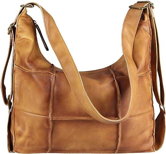 DAMEN XXL Tasche SHOPPER Vintage Tote Hobo Bag Umhängetasche Schultertasche A4