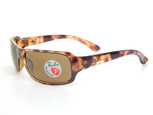 dc9bb1e21a72e Image Unavailable. Image not available for. Color  New Ray Ban RB4075 642 57  Tortoise Brown Classic 61mm Polarized Sunglasses