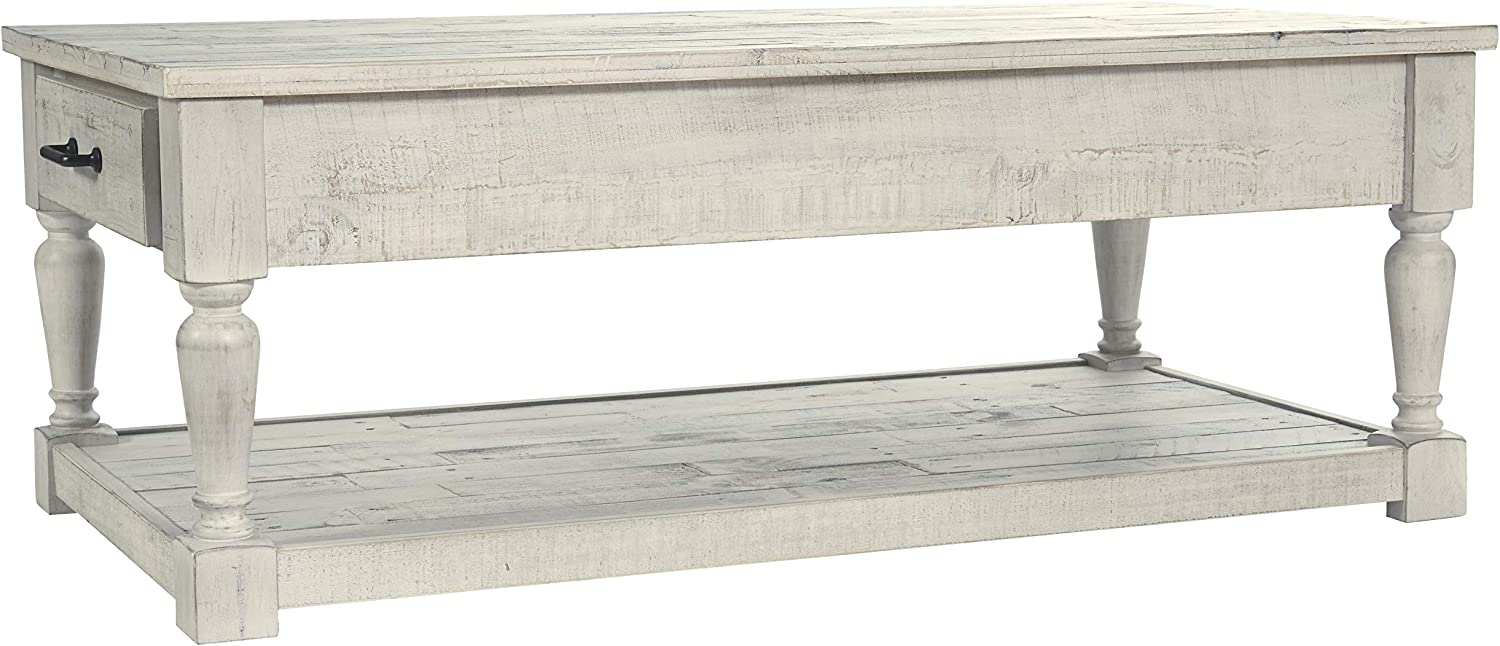 Signature Design by Ashley T782-1 Shawnalore Rectangular Cocktail Table, Whitewash