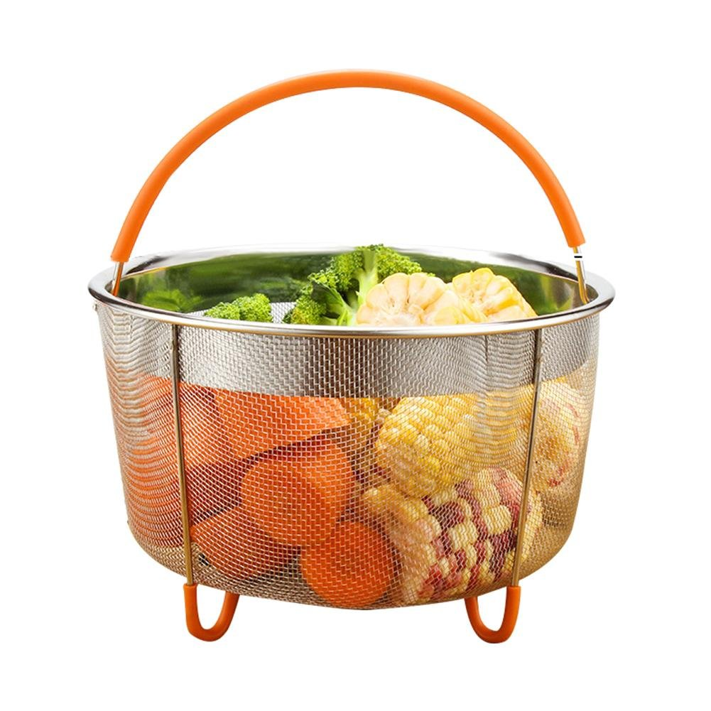Househome Steamer Basket, Stainless Steel Instant Pot Steam Basket Fits 6qt/8qt and Other Large Pressure Cookers & Pots,Great for Steaming Vegetables Meat and Eggs.