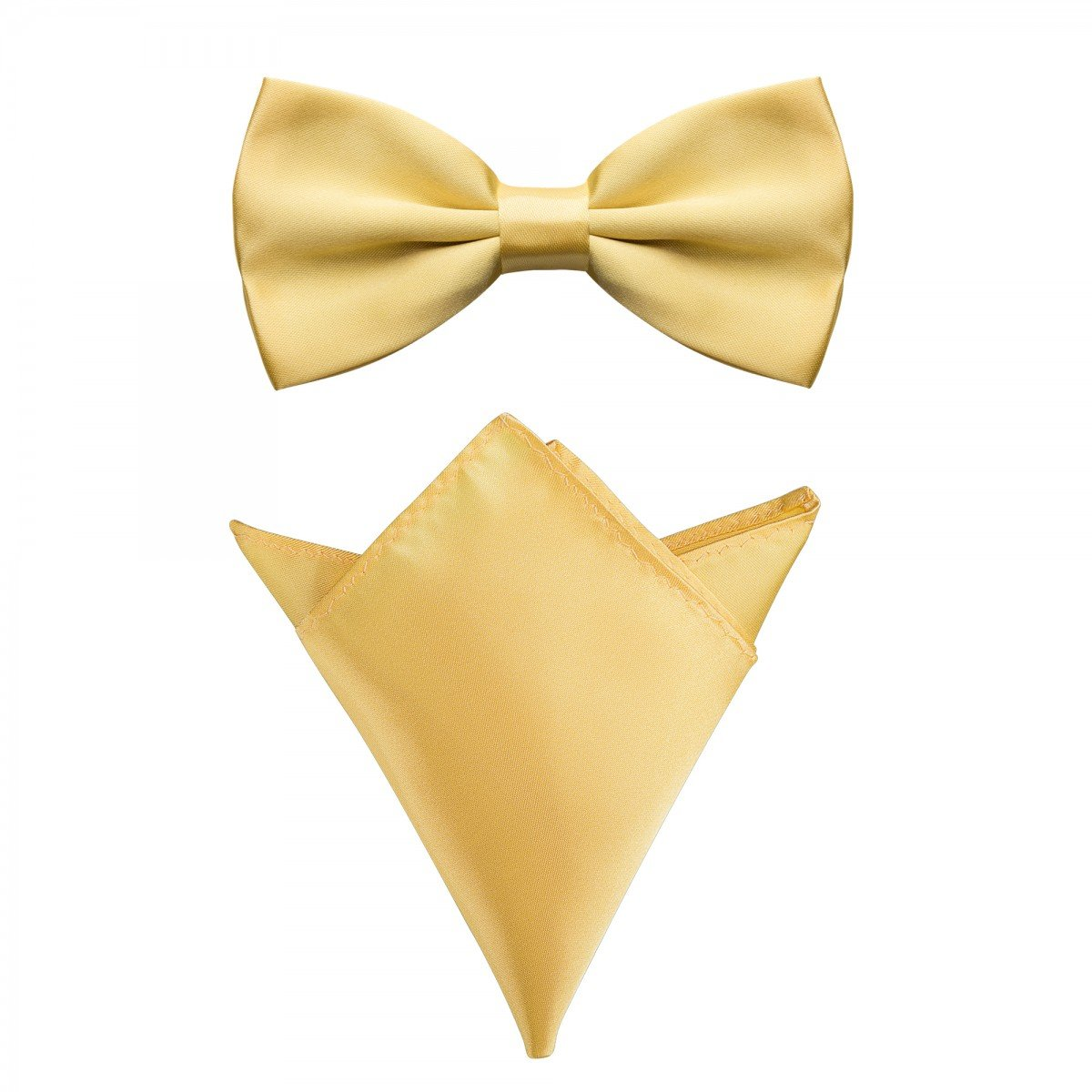 Rusty Bob - Fly with handkerchief in various colors (up to 48 cm neck circumference) - for confirmation, to suit, a tuxedo - a set of 2 a tuxedo - a set of 2 - Navy