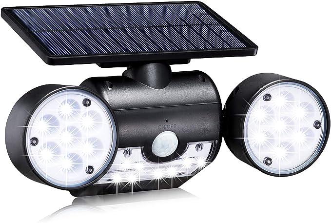 20 opinioni per Luce Solare Esterno 30 LED 400LM con Sensore di Movimento 2000mAh Giardino