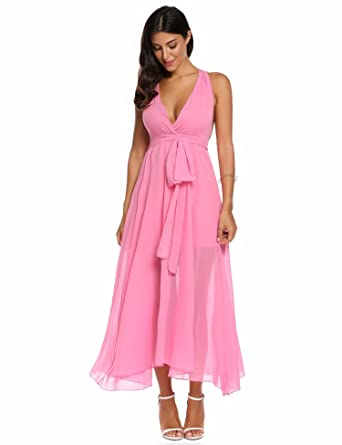 c9275f46e5 Meharbour Maxi Dress wrap Petite Maxi Dress for Women Petite Maxi Dress for  Women Pink Dresses at Amazon Women s Clothing store