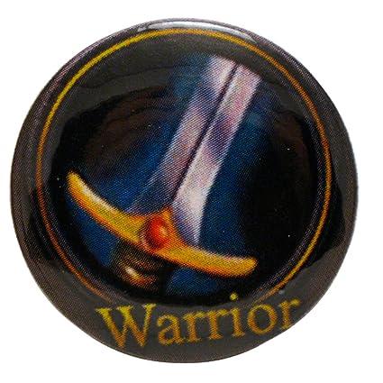 Amazon com: World of Warcraft Warrior Class Symbol Pinback