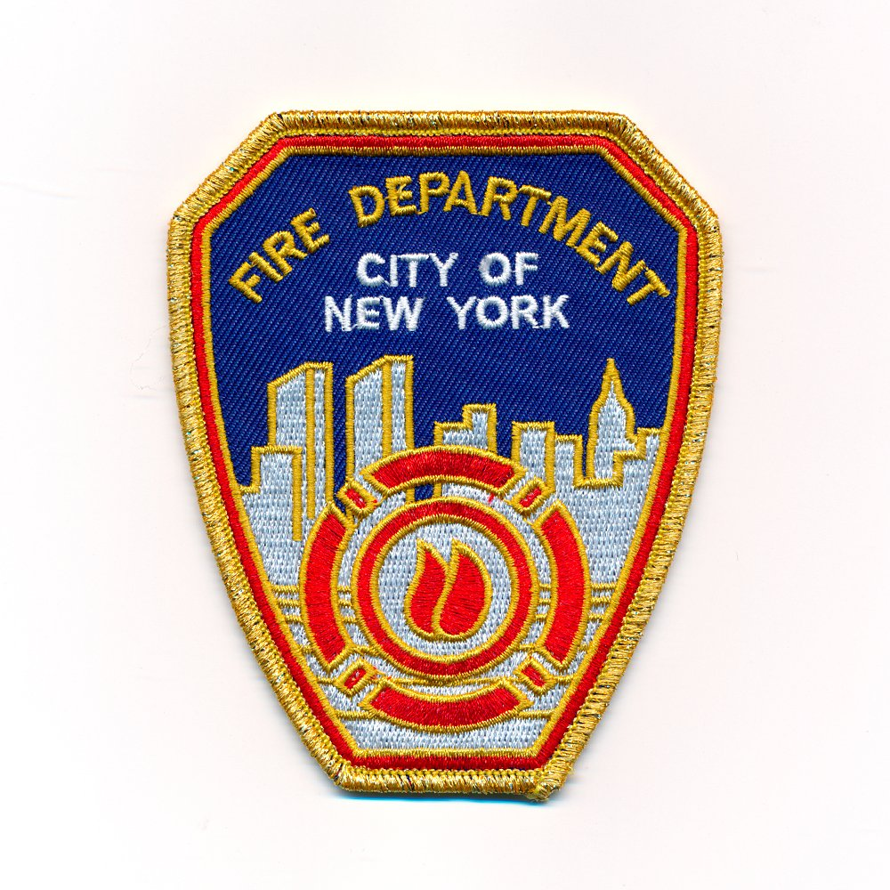Écusson thermocollant, badge à repasser, patch 60 x 75mm Fire Department New York FDNY USA 0974 B badge à repasser patch 60 x 75mm Fire Department New York FDNY USA 0974 B Import / Hegerring