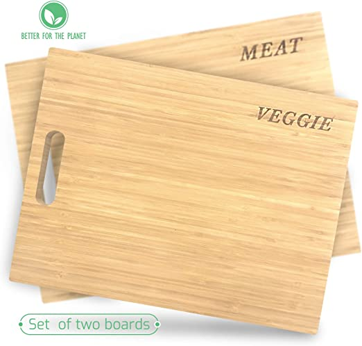 Bamboo Wooden Cutting Boards for Kitchen Set of 3 Organic Bamboo Chopping Board