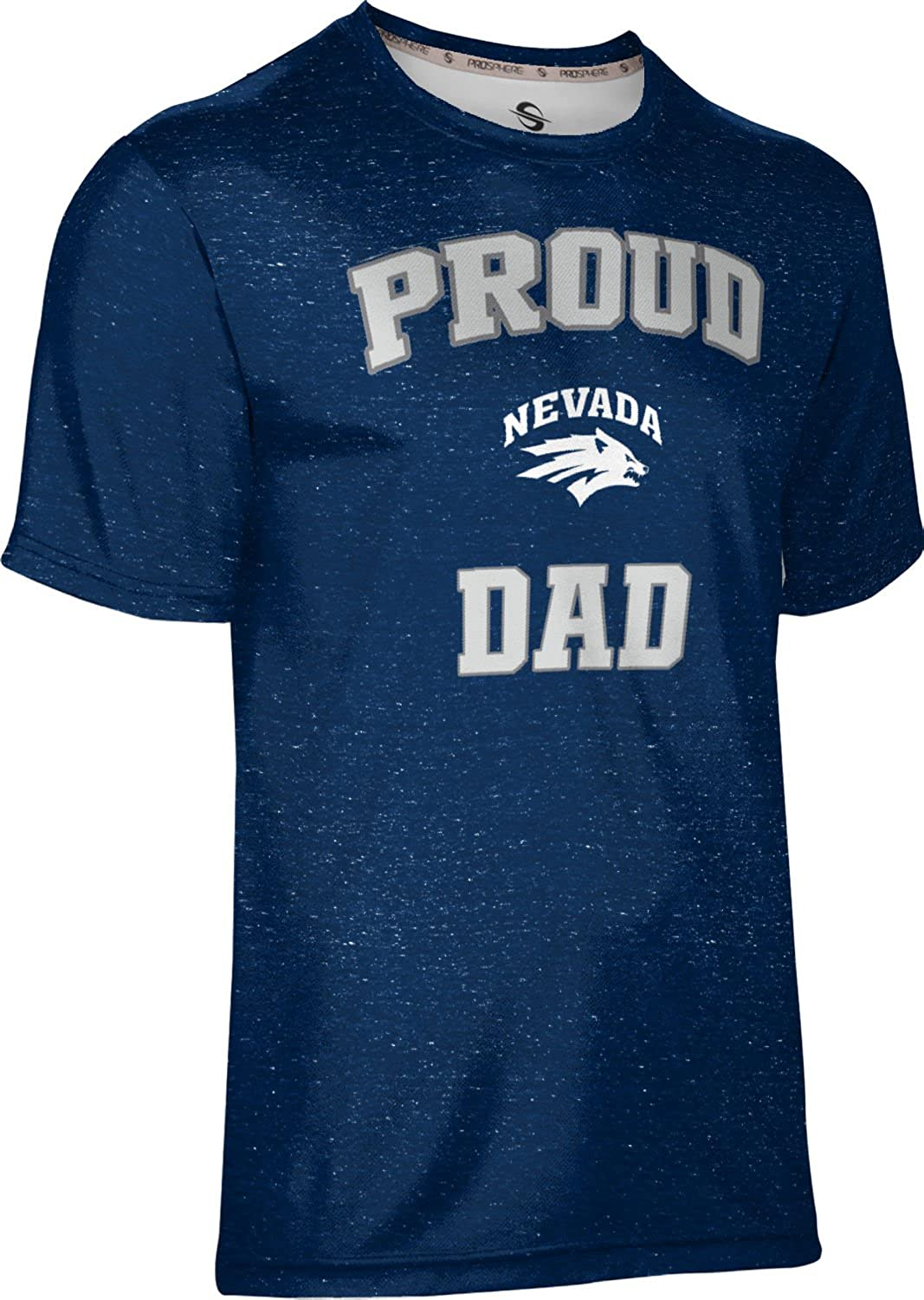 Heather ProSphere University of Nevada Fathers Day Mens Performance T-Shirt