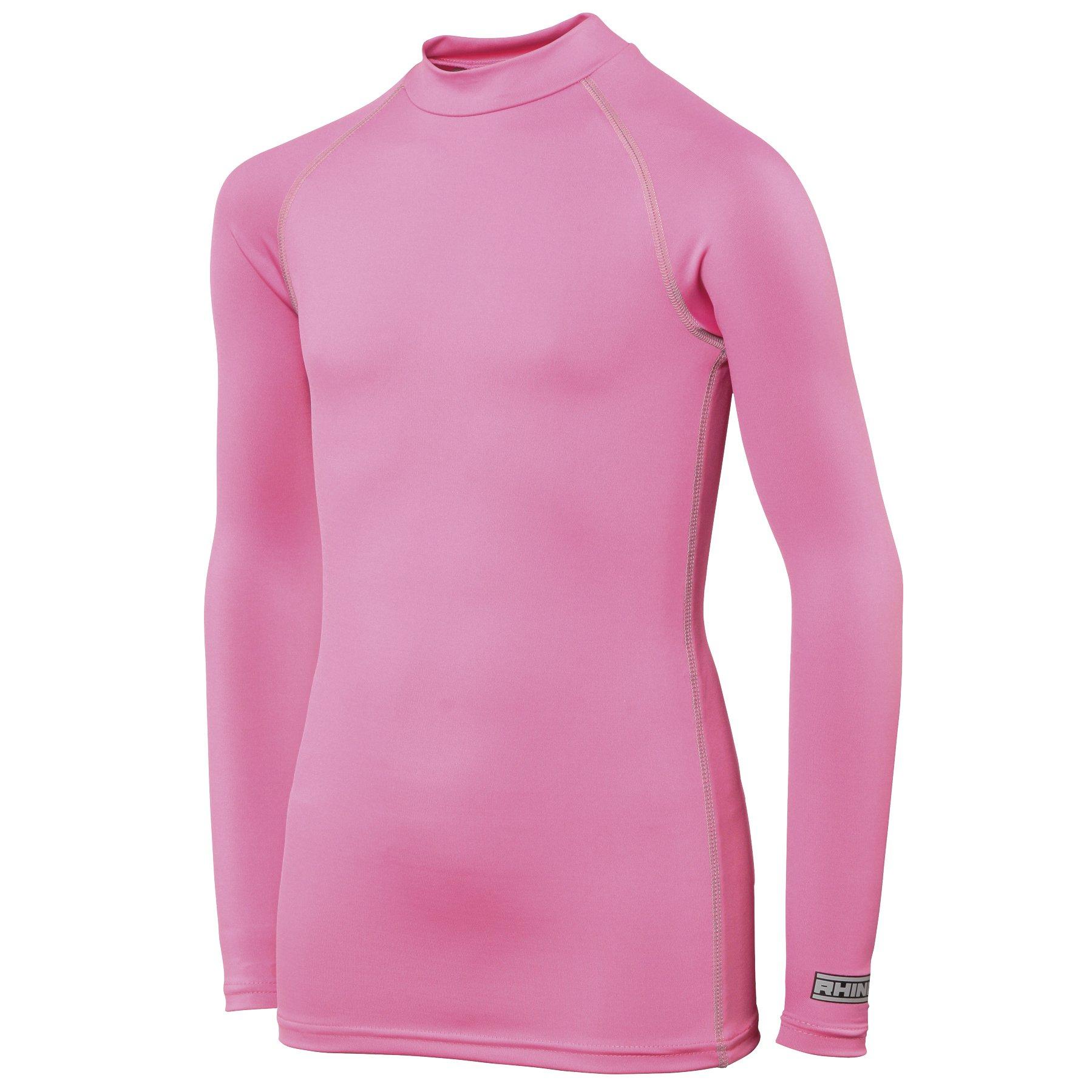 Rhino Childrens Big Boys Long Sleeve Thermal Underwear Base Layer Vest Top (XSY) (Pink) by Rhino