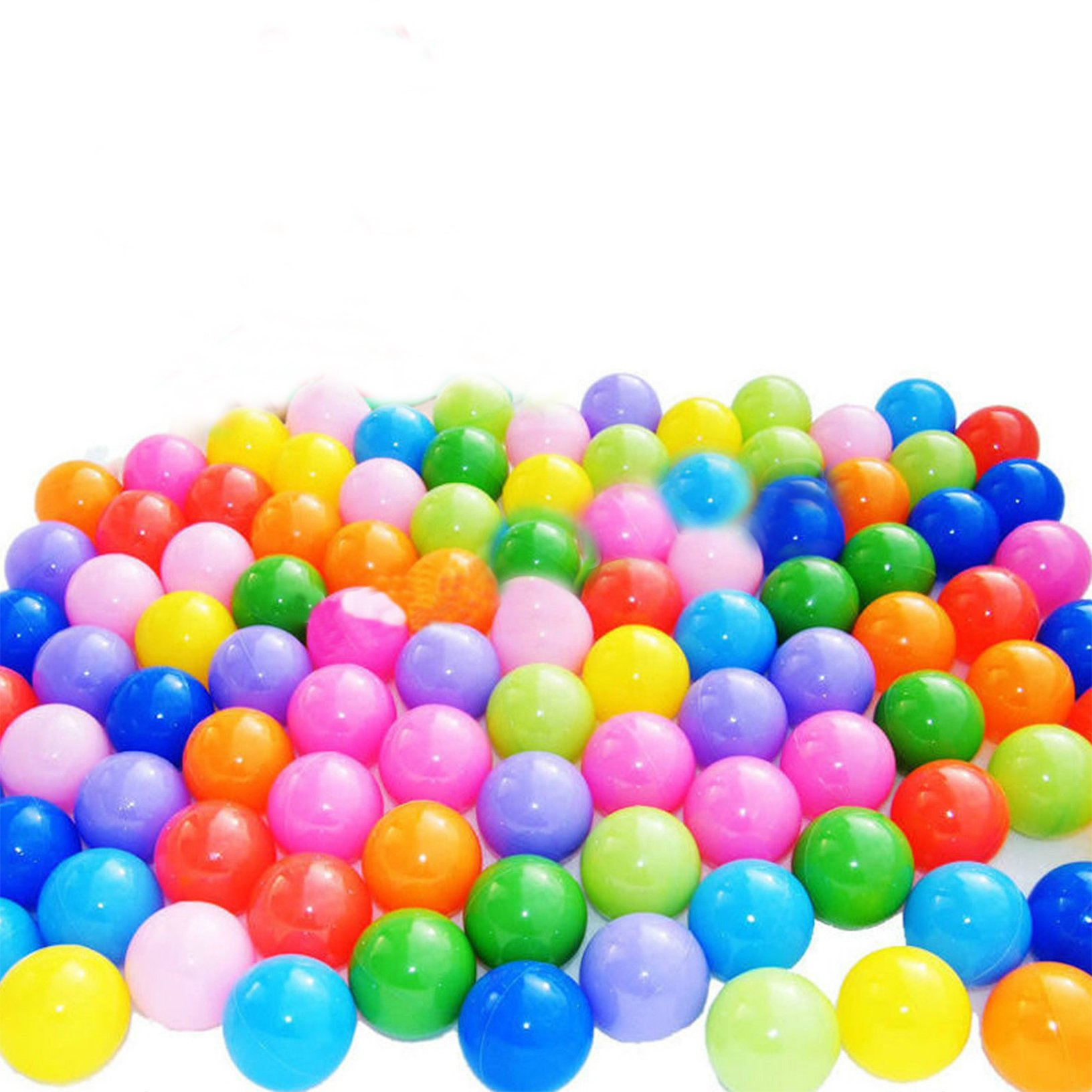 toyofmine Ocean Balls Baby Kid Swim Pit Toy Colorful Soft Plastic Bulk Pack (50-1000 pcs)