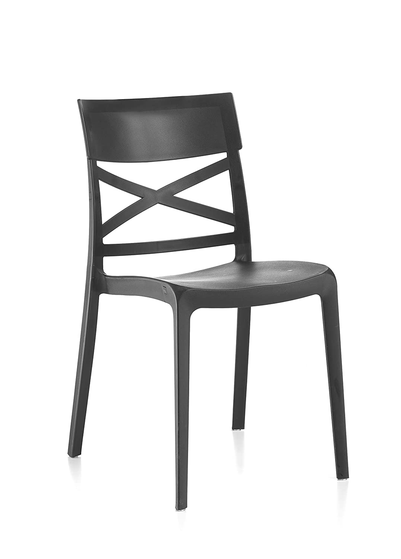 FLOW 4 sillas de Resina monobloque London Cross by Antracita ...