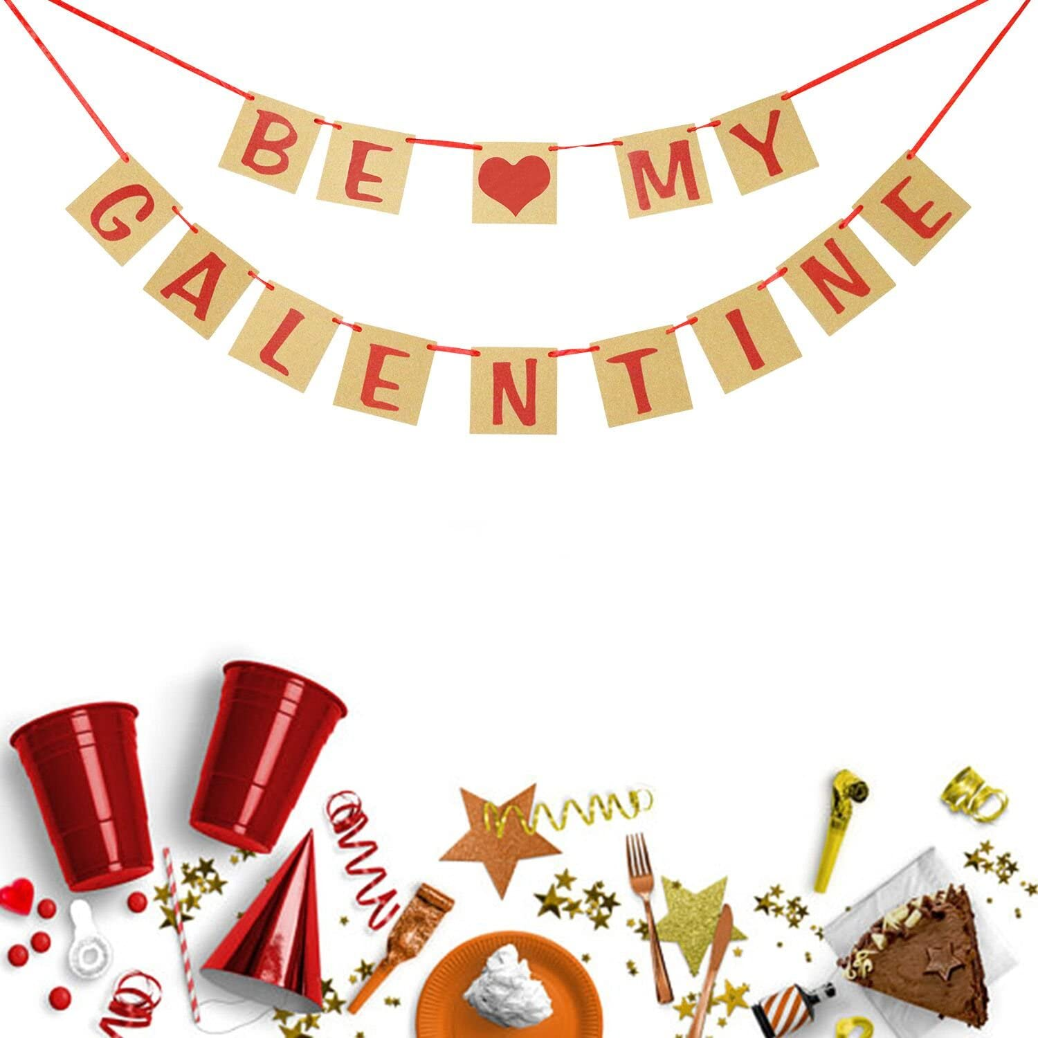Valentines Day Decorations Be My Galentine Banner Bunting Garland Valentine Photo Prop Galentines Day Party Favors Ladies Celebrating Decor Amazon Co Uk Toys Games