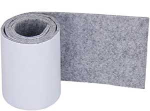Joyoldelf Felt Furniture Pads with Strong Adhesive, DIY Self Heavy Duty Felt Strip Roll & Wood Floor Protector, Suitable for Table, Sofa, Plant Pots and Dishes, 39.37''x 3.93'' (Light Gray)